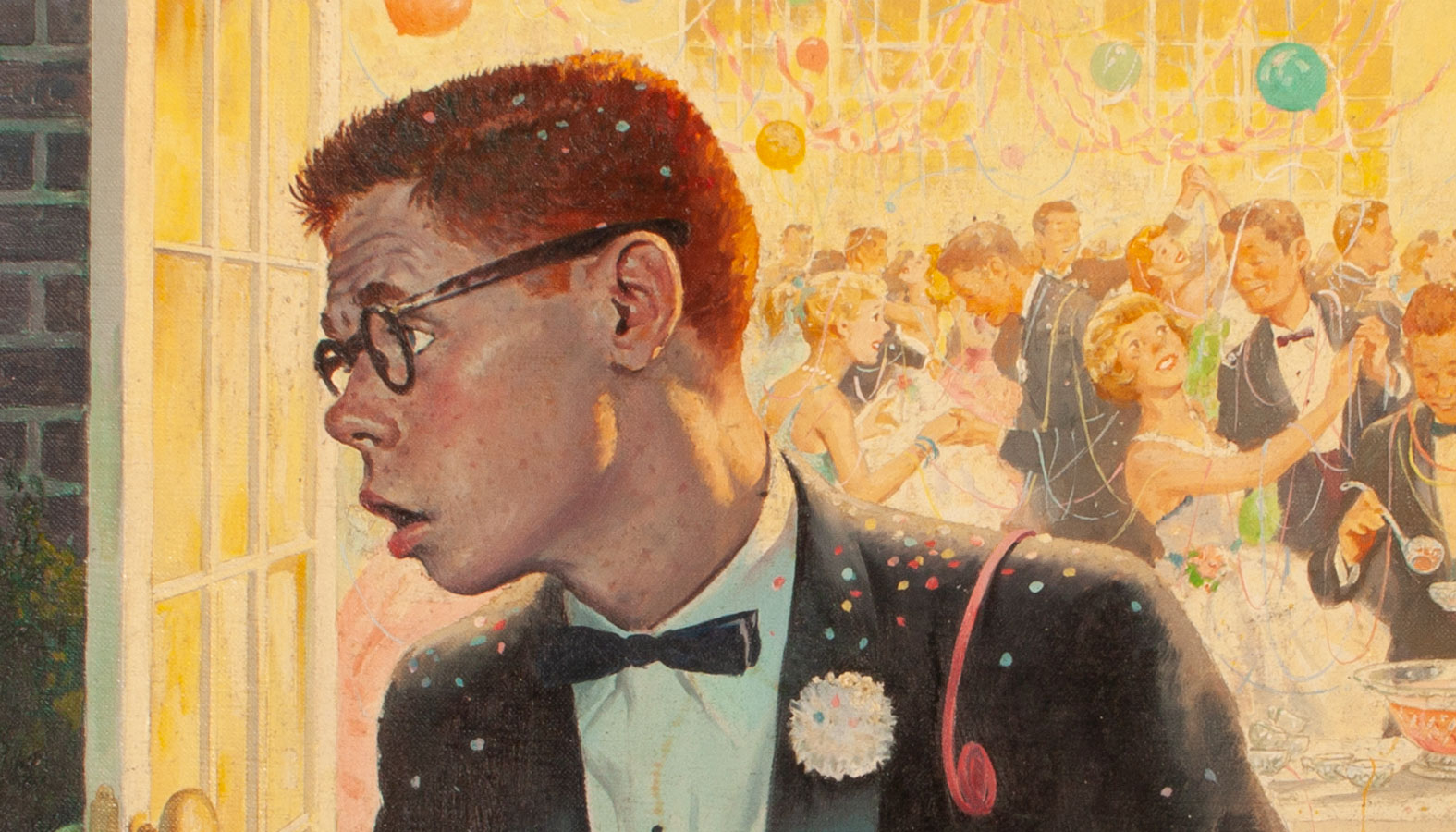 Image result for guy at prom painting